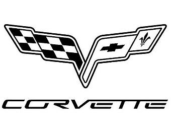 #G240 Corvette C2 Stingray Logo Decal Sticker Fully Laminated Vinyl
