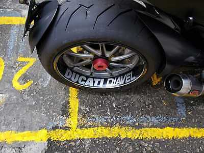 Ducati Diavel rear wheel sticker / decal for Diavel model Ducati & maybe others.