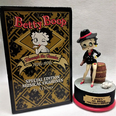 """Betty Boop Special Edition Musical Figurines 1930's """" An Offer You Can't Refuse"""""""