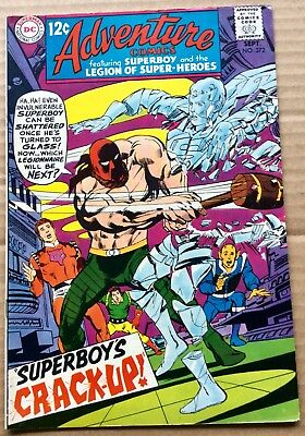 ADVENTURE COMICS #372 (1968) DC Silver Age Superboy, Legion of Super-Heroes VF+