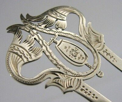 Pretty Edwardian Solid Silver Hair Slide Grip Comb 1903 Art Nouveau Antique