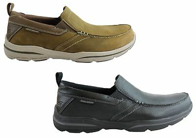 dff2e5b97ab0c New Mens Skechers Harper Forde Relaxed Fit Wide Fit Leather Casual Shoes