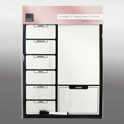 Magnetic Fridge Board and Pen Notice Memo Drywipe Whiteboard A3 Daily Planner