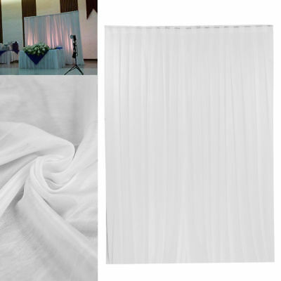2MX2M White Wedding Party Backdrop Curtain Drapes Background Studio Draping Deco