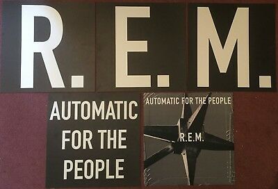 R.E.M - Automatic For The People -  5 x Promotional 2-sided Display Cards