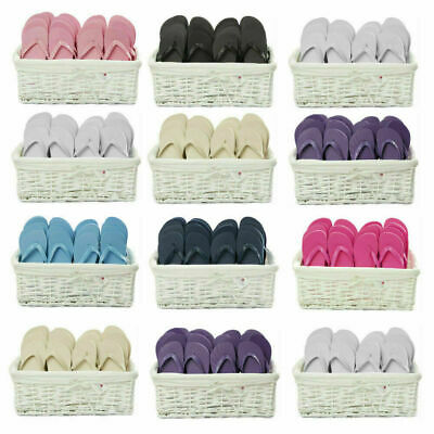 Zohula Flip Flops Wedding Favour Baskets - 20 Pairs - Choice of Sizes & Colours