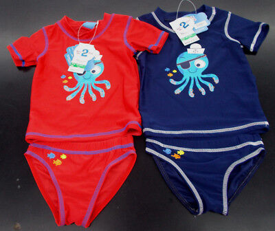 Infant Boys $20 Sweet & Soft 2pc Navy & Red Swim Sets Size 12 Months