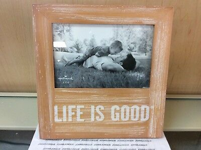 Life Is Good Hallmark Photo Frame New Holds 4 X 6 Picture Tag