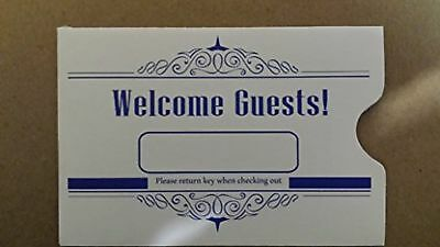 Hotel Keycard Envelope/ Sleeve  Welcome Guests Blue 2-3/8 x 3-1/2 500/Box