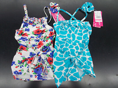 Infant Girls Bungy Baby 3pc Floral or Animal Pattern Swimsuits Size 18m - 24m