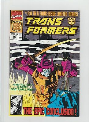 Transformers #80 (July 1991, Marvel) NM- (9.2) Last Issue of Marvel Title !!!!!!