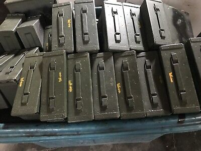 3 PACK M19A1 7.62 / 308 30 Cal AMMO CAN GOOD CONDITION ** FREE SHIPPING** Empty