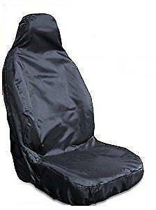 Ford Transit Single Drivers Van Seat Cover Black Waterproof - Fits All Models