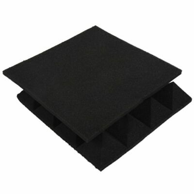 12 pcs -Soundproofing Foam Sound Absorption Pyramid Studio Treatment Wall P P5Q2