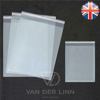 *UK Seller* PREMIUM QUALITY A4 Cellophane Cello Bags Self Seal Clear Cards Party