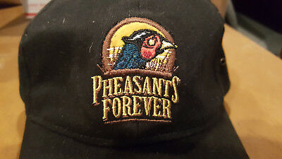 separation shoes aa995 4d012 Pheasants Forever Strapback Baseball Cap Hat Black Embroidered Bird Hunting  Usa