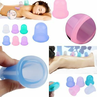 Silicone Anti Cellulite Body Massage Vacuum Cupping Body Facial Cups Therapy New