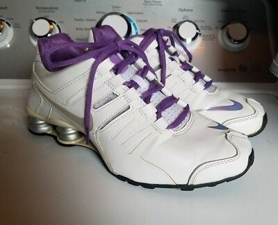 quality design 1f8e6 e804a Women s Nike Shox Current White Silver Purple Size 8 EUC GREAT CONDITION