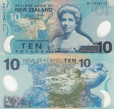 New Zealand 10 Dollars (2013) - Katherine Sheppard/Ducks/p186b UNC