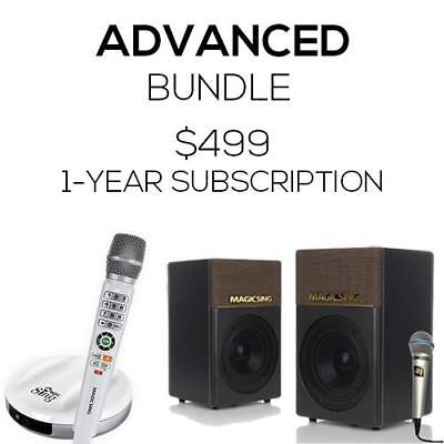 Advanced Bundle Package: Magic Sing E2 + KP-650 · One Wireless Mic + One Wired M