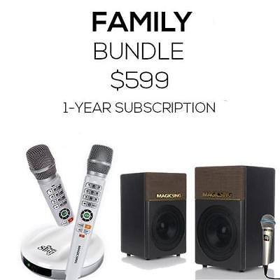 Family Bundle Package · Magic Sing E2 + EB2 + KP-650 · Two (2) Wireless Mics + O