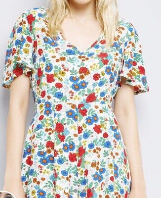 fd8cd6e08128 new look Ditsy Floral Playsuit Size 10 Summer Holiday