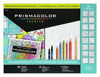 Prismacolor Premier Coloring Kit With Colored Pencils Art Markers And Adult Col