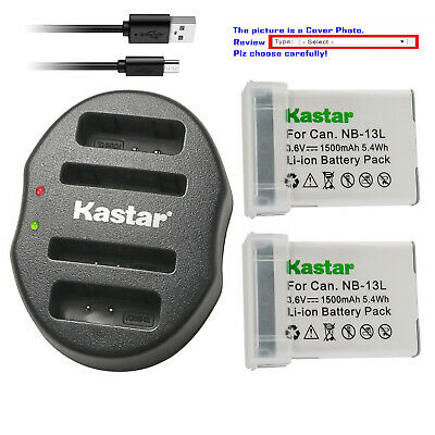 Kastar Battery Dual USB Charger for Canon NB-13L CB-2LH Canon PowerShot SX620 HS