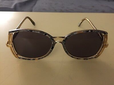Cazal Vintage Eyeglasses Model 336 Col. 707 Gold And Marble Gray Need Lenses