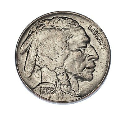 1935 5C Buffalo Nickel Choice BU Condition, Excellent Eye Appeal, Mint Luster!