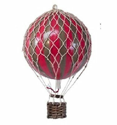 "Authentic Models Holiday Hot Air Balloon Decoration 3.25"", Gold And Red Ap160gr"