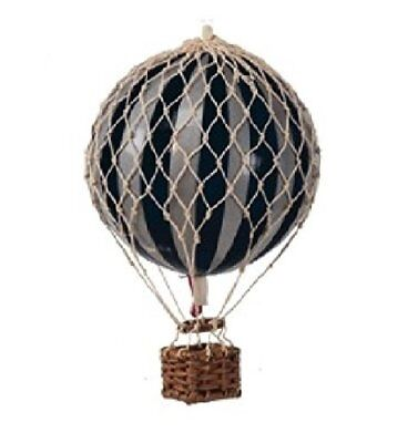 """Authentic Models Holiday Hot Air Balloon Decoration 7"""", Silver And Black Ap161sk"""