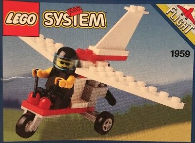 lego system 1959 Flight Ultralite New In Sealed Bag Instructions 1993