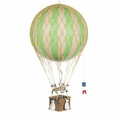 Authentic Models Green Jules Verne Balloon Hot Air Balloon Model Rattan Basket