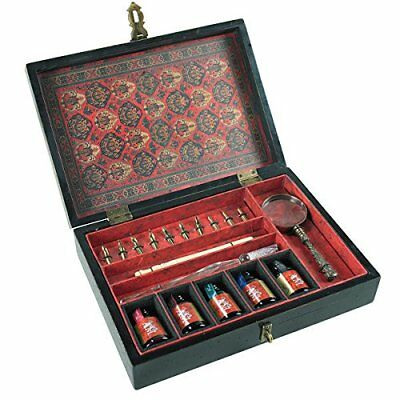 Authentic Models Trianon Travel Calligraphy Writing Set Pen Heads Ink Bottles