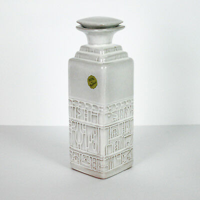 Frankoma Aztec Decanter Bottle 7JH Stopper White Sand
