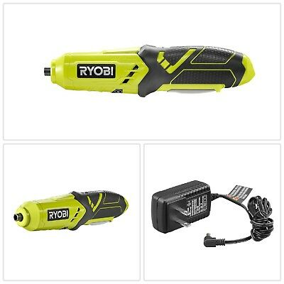 Lithium Screwdriver Green 4 V Cordless Brushed Bits Included Electric Power Tool