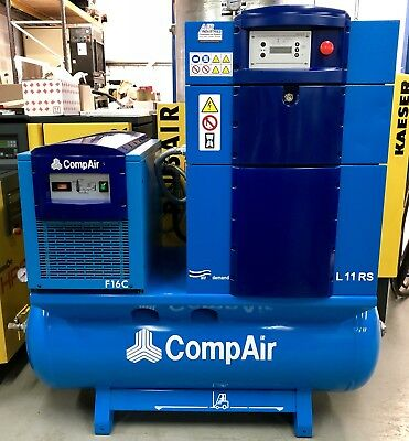 Compair L11RS Variable Speed Receiver Mounted Rotary Screw Compressor Package!