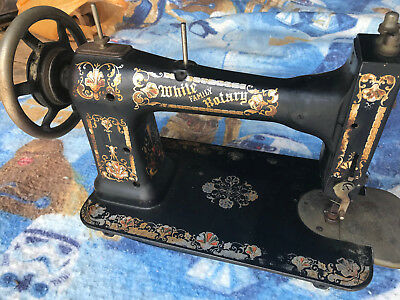 1905 Pat. White Family Rotary Treadle Sewing Machine Only, 4 Parts or Restorat.