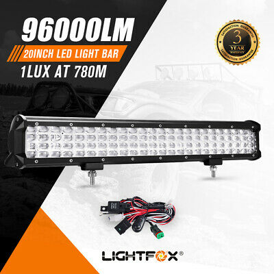 20inch QUAD ROW CREE LED Light Bar Offroad Work Driving 12V 24V ATV 4x4 4WD