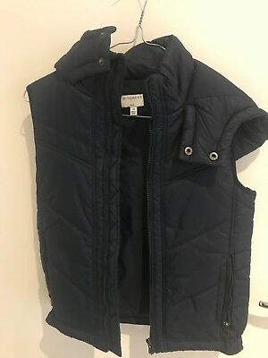 WITCHERY padded Boys Hooded Vest Size 10 PRE-LOVED IN GOOD CONDITION