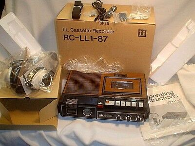 Vintage Ll Cassette Recorder Rc-Ll1-87~Mint In Box~Made In Japan