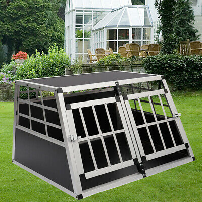 Dog Cage Aluminium Pet Puppy Cage Kennel Travel Transport Crate Carrier BOX S/L