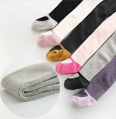 Girl Baby Kid WINTER Warm Thermal Fleece Bottoms bow Tights Leggings Stockings