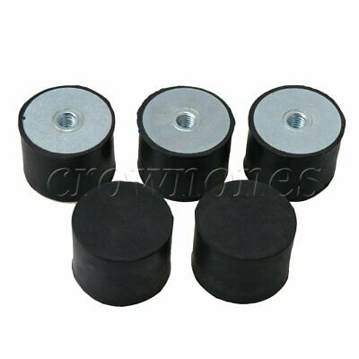 5PCS DE M8 40 x 30 Female Thread Flat Base Rubber Isolator Replace Silentblock