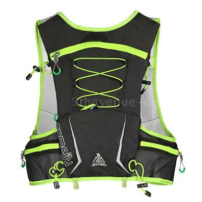 5L Multi Pocket Outdoor Reflective Running Vest Backpack Insulted Hydration J4P9