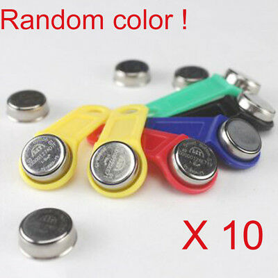 10PCS DS1990A-F5 TM Card iButton Tag with wall-mounted holder YELLOW M97