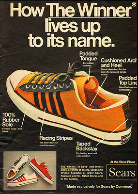 1972 vintage ad, 'The Winner', CONVERSE TENNIS SHOES FOR SEARS -110112