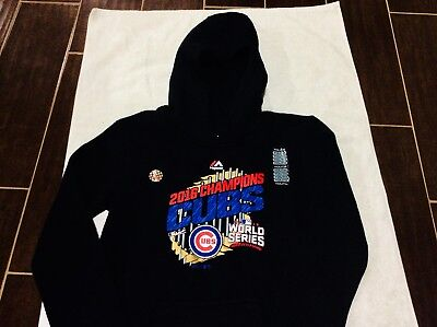 85aac13d24f8 Chicago Cubs Youth Hoodie Sweatshirt New Majestic Authentic World Series  Medium