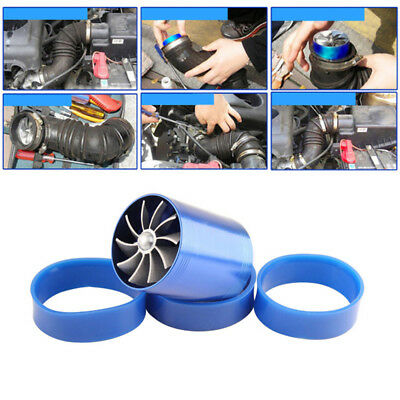 Air Intake Turbonator Dual Fan Turbine Gas Fuel Savers Turbo Super charger Power